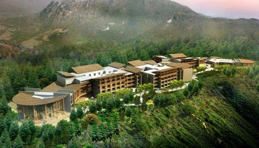 El imponente hotel que Banyan Tree inauguró en Jiuzhaigou, China